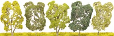 Etched Brass Deciduous Lime Tree - Twin Trunk - EB22