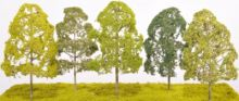 Etched Brass Deciduous Alder Style Tree - Single Trunk - EB23