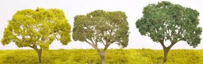 Etched Brass Deciduous Oak Style Tree - Single Trunk - EB39