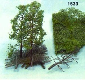 Heki 1533 - Deciduous Tree Kit: Tree Blanks 18cm (10) + Flock