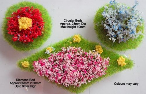 OO/HO Formal Flower Beds (Diamond/Circles)
