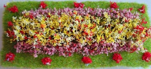 OO/HO Formal Flower Bed (Rectangular)