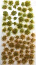 Grass Tufts - 2-4mm Scale - Green/Brown