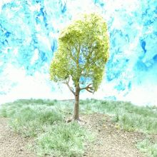 PL23102 - 80mm Light Green Deciduous Tree
