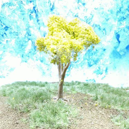 PL25102 - 80mm Light Green Fruit Tree - No fruit
